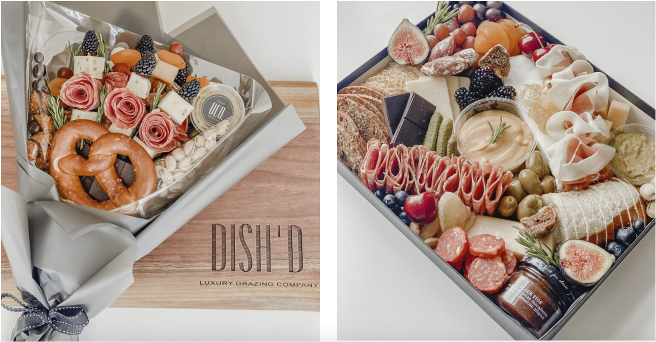 Luxury grazing boxes, platters and tables
