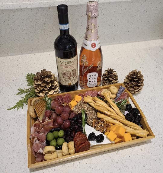 cured meats wine and accompaniments