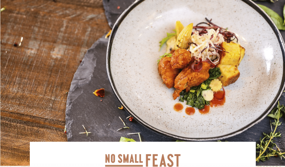 premium main course from No Small Feast