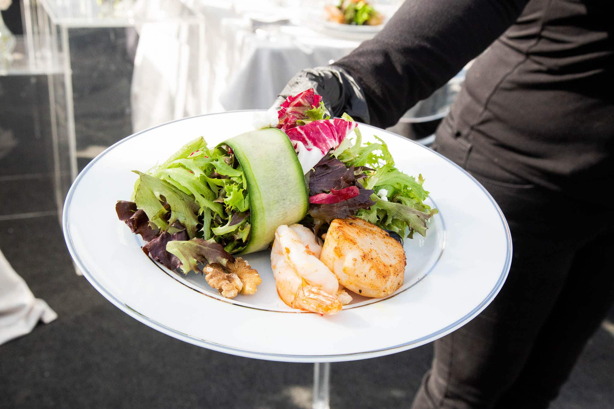 gourmet meals for luxury catering