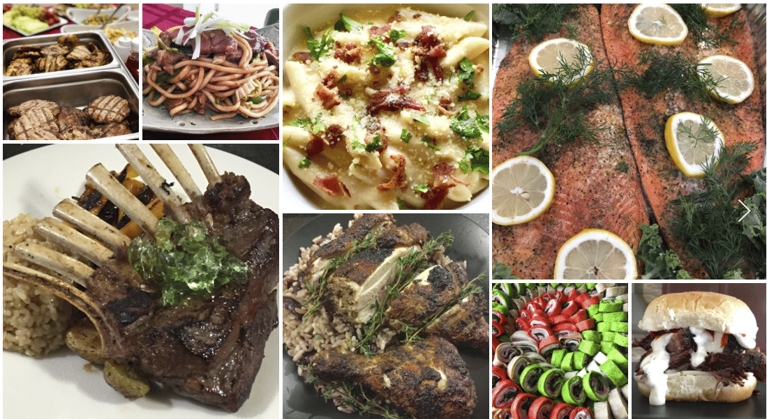 main courses for luxury catering companies